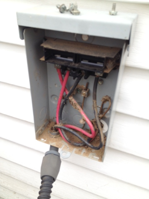 Thanks to Karl, this air conditioner control box is no longer a home for wasps.